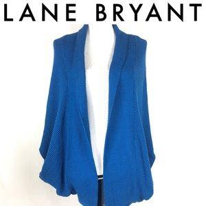 Lane brant blue open short sleeve cardigan 18W